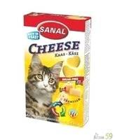 Витамины SANAL для кошек Сыр 40 таб.