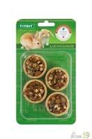 Тарталетки для кроликов с яблоком и манго