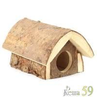 Домик избушка для мелких животных 12x16x10см