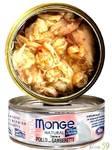 Monge Cat Natural консервы для кошек тунец с курицей и креветками 80г