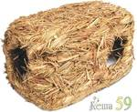 Домик туннель для мелких грызунов плетёный Шалаш 25x16x12см