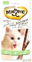 Мнямс лакомые палочки для кошек с уткой и кроликом 3х5гр