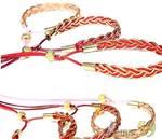 Ринговка плетеная с золотом