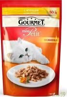 Гурмет Mon Petit пауч для кошек c курицей 50гр