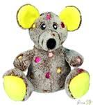 Trixie Игрушка для собак Мышь цветная 17см