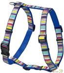 Hunter Smart шлейка Ecco Fun Stripes XS нейлон синяя 23-35/25-41см