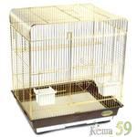 Клетка для птиц №1302 золото 52x41x59см