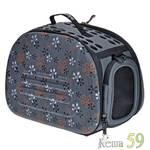 Ibiyaya складная сумка переноска для собак и кошек до 6 кг серая