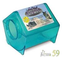 Купалка Дом для шиншилл 23x23x22см пластик