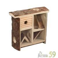 Лабиринт деревянный для мелких грызунов 58x8xh26см