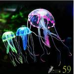 Силиконовая Медуза малая синяя 5x15см