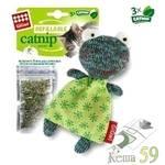 GIGwi Игрушка для кошек Лягушка с кошачьей мятой 11см