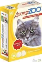 Доктор ZOO витамины для кошек с сыром 90таб.