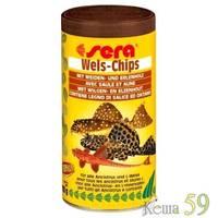SERA Wels chips Корм для донных рыб в виде чипсов 100мл